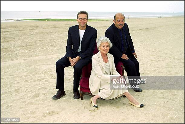 Laurent Ruquier Claude Sarraute Benguigui in Cabourg France on June 16 2001