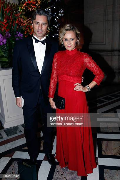 Laurent Solly and Caroline Roux attend the Opening Season Gala at Opera Garnier on September 24 2016 in Paris France