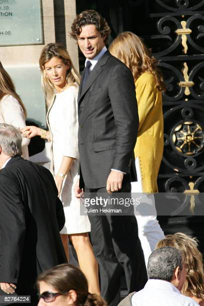 Laurent Solly and his wife arrive at Town Hall on September 10 2008 in Neuilly France