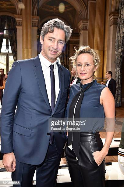 Laurent Solly and his wife Caroline Roux attend the Lanvin show as part of the Paris Fashion Week Womenswear Spring/Summer 2017 on September 28 2016...