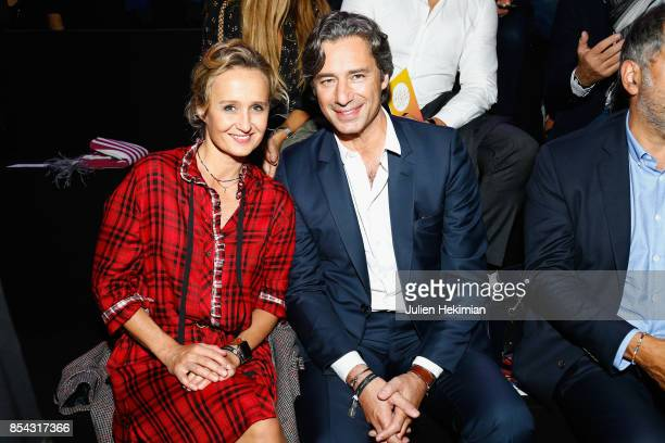 Laurent Solly and wife Caroline Roux attend the Etam show as part of the Paris Fashion Week Womenswear Spring/Summer 2018 on September 26 2017 in...