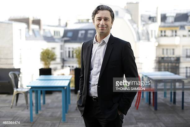 Laurent Solly Chief Executive Officer of Facebook France poses at his headquarters in Paris on March 6 2015 AFP PHOTO / THOMAS SAMSON