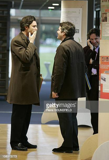 Laurent Solly Frederic Lefebvre and Franck Louvrier in Saclay France on January 18 2007