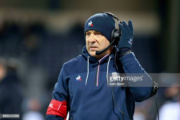 Laurent Travers coach of Racing during the European Champions Cup match between Castres and Racing 92 on December 9 2017 in Castres France