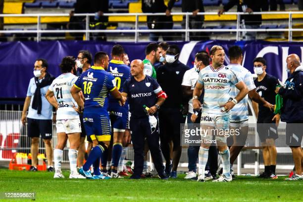 Laurent TRAVERS head coach of Racing92 during the Quarter-Final Champions Cup match between Clermont and Racing92 at Stade Marcel Michelin on...