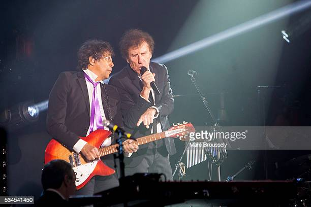 Laurent Voulzy and Alain Souchon perform live on stage at Eventim Apollo on May 26 2016 in London England