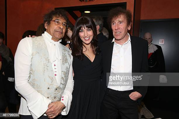 Laurent Voulzy Nolwenn Leroy and Alain Souchon attend the 10th Charity Gala Against Alzheimer's Disease At L'Olympia In Paris at L'Olympia on January...