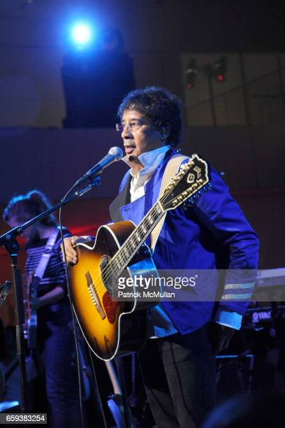 Laurent Voulzy performing attends LINDA EVANGELISTA NOTIFY Party to Celebrate RON ARAD at MoMA at The Modern Museum of Art on September 15 2009 in...