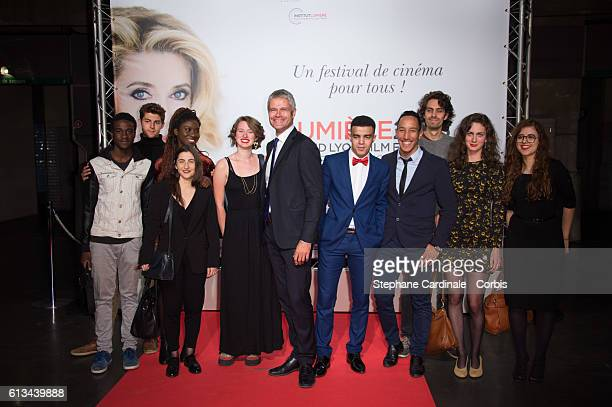 Laurent Wauquiez and guests attend the Opening Ceremony of the 8th Film Festival Lumiere on October 8 2016 in Lyon France