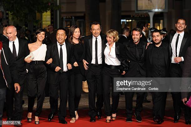 Laurent Weil Tania BrunaRosso Ali Badou Michel Denisot Ariane Massenet Yann Barthes and Mouloud Achour at the premiere of 'Black Heaven' during the...