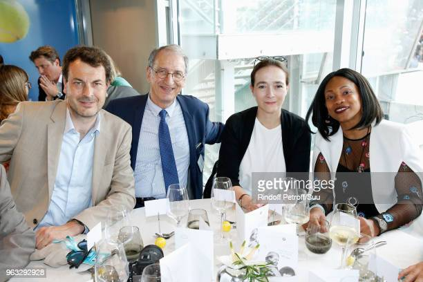LaurentEric Le Lay President of the French National Olympic and Sports Committee Denis Masseglia President of France Television Delphine Ernotte and...