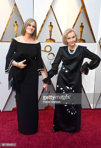 Laurette Hayden and Eva Marie Saint attend the 90th Annual Academy Awards at Hollywood Highland Center on March 4 2018 in Hollywood California