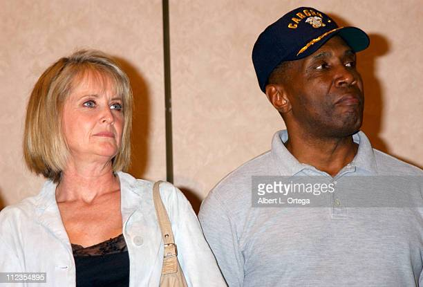 """Laurette Spang and Herbert Jefferson Jr. During 2003 Galacticon Celebrating the 25th Anniversary of """"Battlestar Galactica"""" - Day One at The Universal..."""