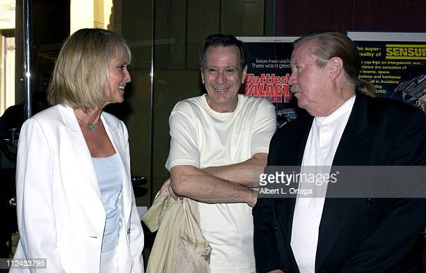 Laurette Spang, Stu Phillips, Glen A. Larson during American Cinematheque & Cinefantastique Magazine Co-Sponser A 25th Anniversary Screening Of...