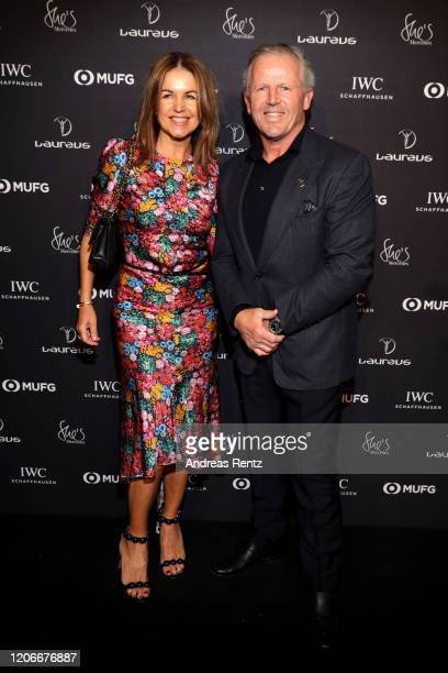 "Laureus Academy Chairman Sean Fitzpatrick and his wife Bronwyn attend ""She's Mercedes"" prior to the 2020 Laureus World Sports Awards on February 16,..."