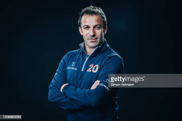 Laureus Academy Member Alessandro Del Piero poses at the Mercedes Benz Building prior to the 2020 Laureus World Sports Awards on February 16 2020 in...