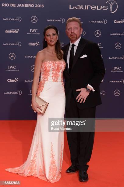 Laureus Academy Member Boris Becker and wife Lilly Becker attends the 2013 Laureus World Sports Awards at the Theatro Municipal Do Rio de Janeiro on...
