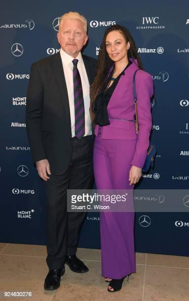 Laureus Academy member Boris Becker and wife Lily Becker attend the Laureus Academy Welcome Reception prior to the 2018 Laureus World Sports Awards...