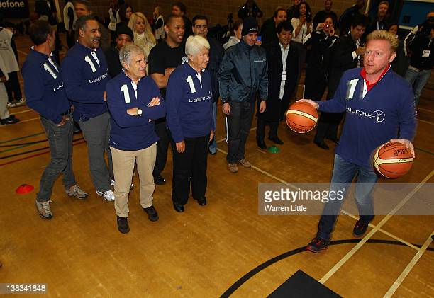 Laureus Academy member Boris Becker attends the Laureus Sport for Good Youth Festival at Millwall Football Club's Lions Centre ahead of the 2012...
