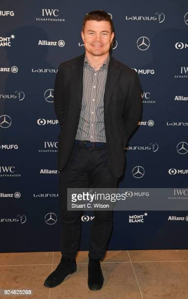 Laureus Academy member Brian O'Driscoll attends the Laureus Academy Welcome Reception prior to the 2018 Laureus World Sports Awards at the Yacht Club...