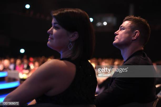 Laureus Academy Member Brian O'Driscoll in the audience during the 2020 Laureus World Sports Awards at Verti Music Hall on February 17 2020 in Berlin...