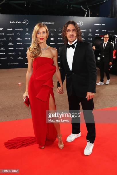 Laureus Academy member Carles Puyol attends the 2017 Laureus World Sports Awards at the Salle des Etoiles,Sporting Monte Carlo on February 14, 2017...