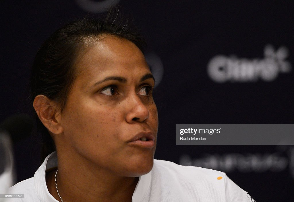 Laureus Academy Member Cathy Freeman attends the Women In Sport Press Conference at the Windsor Atlantica during the 2013 Laureus World Sports Awards on March 11, 2013 in Rio de Janeiro, Brazil.