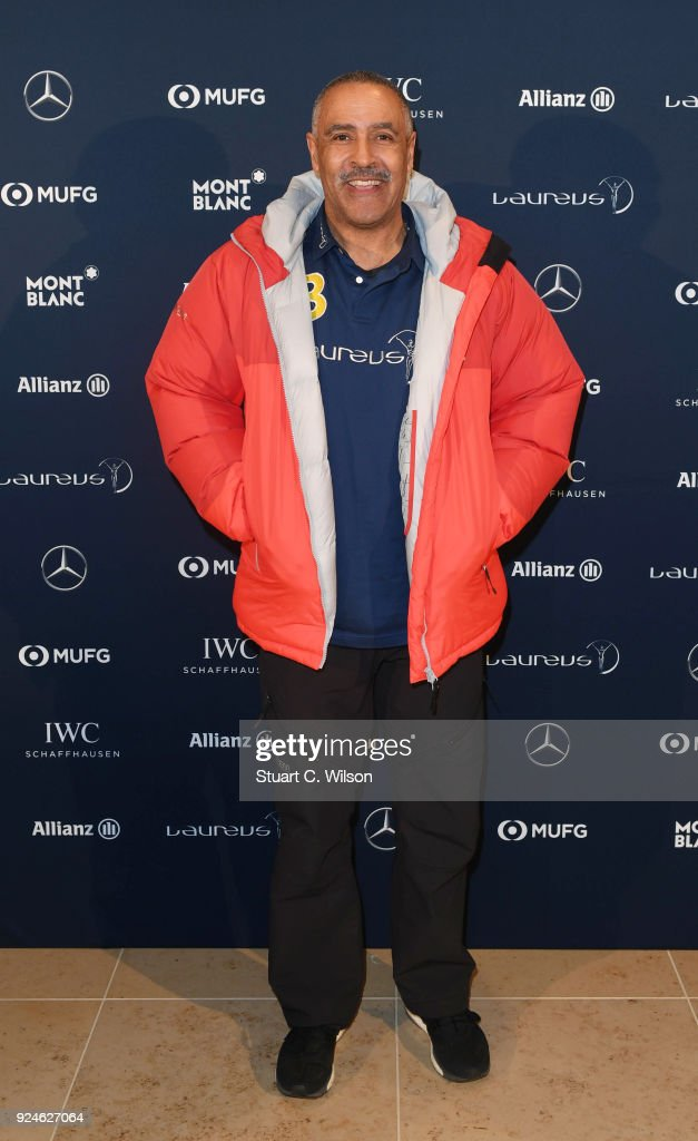 Laureus Academy Member Daley Thompson attends the Laureus Academy Welcome Reception prior to the 2018 Laureus World Sports Awards at the Yacht Club de Monaco on February 26, 2018 in Monaco, Monaco.