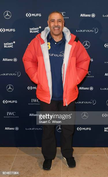 Laureus Academy Member Daley Thompson attends the Laureus Academy Welcome Reception prior to the 2018 Laureus World Sports Awards at the Yacht Club...