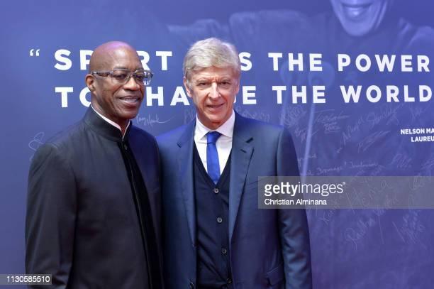Laureus Academy Member Edwin Moses and Arsene Wenger arrive at the 2019 Laureus World Sports Awards on February 18 2019 in Monaco Monaco