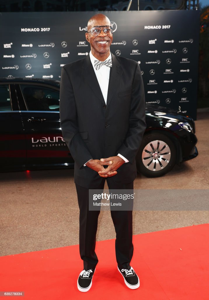 Laureus Academy member Edwin Moses attends the 2017 Laureus World Sports Awards at the Salle des Etoiles,Sporting Monte Carlo on February 14, 2017 in Monaco, Monaco.