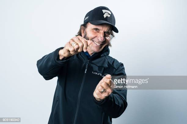 Laureus Academy member Emerson Fittipaldi poses prior to the 2018 Laureus World Sports Awards at Le Meridien Beach Plaza Hotel on February 26, 2018...