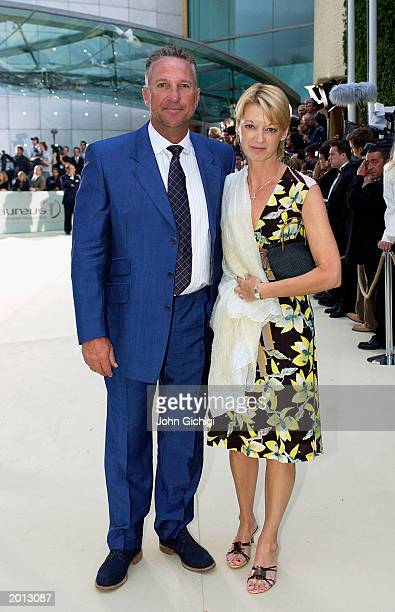 Laureus Academy member Ian Botham and his wife attends the Laureus Sport for Good Foundation Dinner and Auction at the Monte Carlo Sporting Club on...