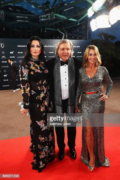 Laureus Academy member Ilie Nastase and Nadia Comaneci attend the 2017 Laureus World Sports Awards at the Salle des EtoilesSporting Monte Carlo on...