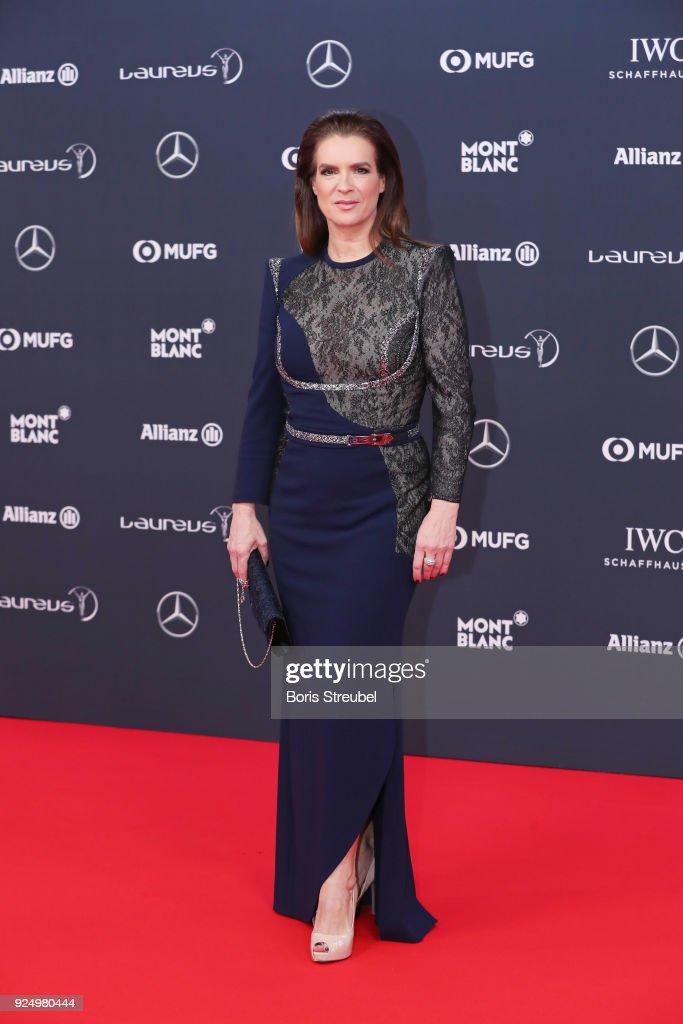 Laureus Academy member Katarina Witt attends the 2018 Laureus World Sports Awards at Salle des Etoiles, Sporting Monte-Carlo on February 27, 2018 in Monaco, Monaco.