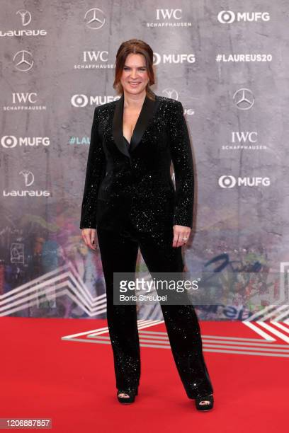 Laureus Academy Member Katarina Witt attends the 2020 Laureus World Sports Awards at Verti Music Hall on February 17, 2020 in Berlin, Germany.