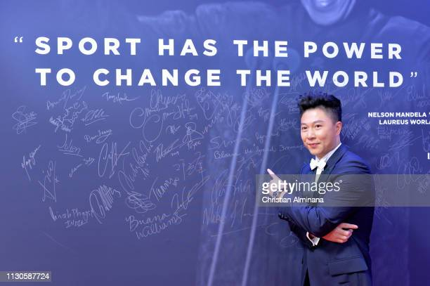 Laureus Academy Member Li Xiaopeng by the wall during the 2019 Laureus World Sports Awards on February 18 2019 in Monaco Monaco