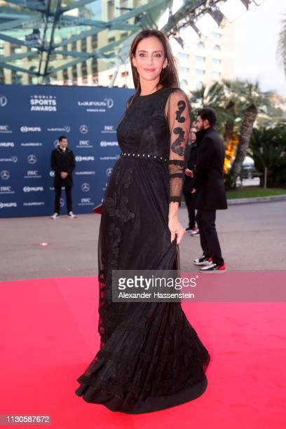 Laureus Academy Member Luciana Aymar arrive during the 2019 Laureus World Sports Awards on February 18 2019 in Monaco Monaco