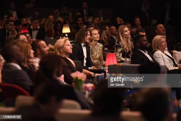 Laureus Academy Member Luis Figo and Helen Svedin during the 2020 Laureus World Sports Awards at Verti Music Hall on February 17 2020 in Berlin...