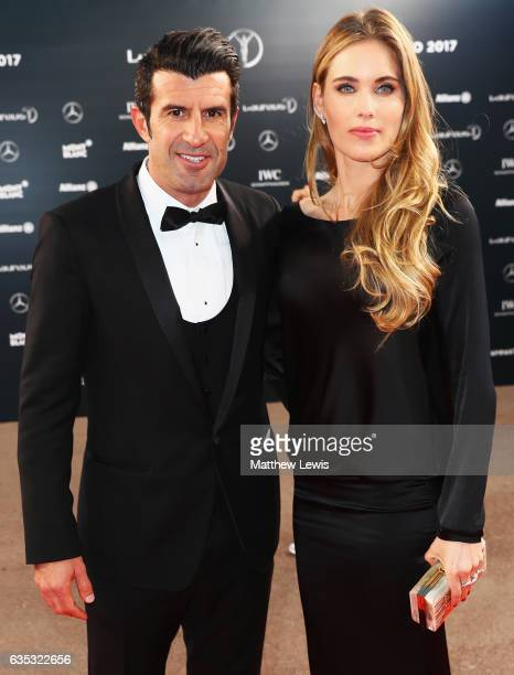 Laureus Academy Member Luis Figo attends the 2017 Laureus World Sports Awards at the Salle des EtoilesSporting Monte Carlo on February 14 2017 in...