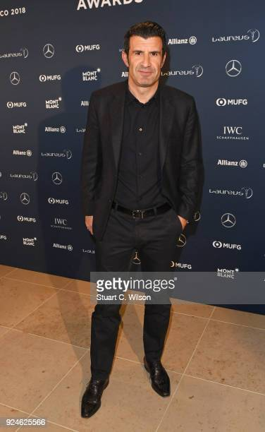 Laureus Academy Member Luis Figo attends the Laureus Academy Welcome Reception prior to the 2018 Laureus World Sports Awards at the Yacht Club de...