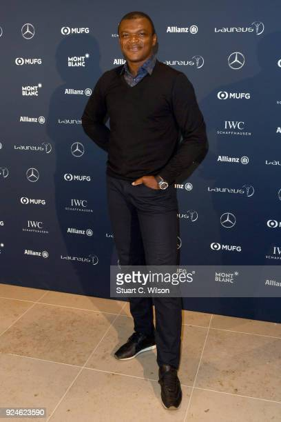 Laureus Academy member Marcel Desailly attends the Laureus Academy Welcome Reception prior to the 2018 Laureus World Sports Awards at the Yacht Club...