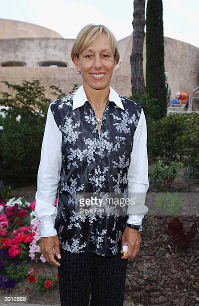 Laureus Academy Member Martina Navratatilova attends the Laureus Sport for Good Foundation Dinner and Auction at the Monte Carlo Sporting Club on May...
