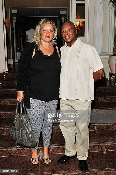 Laureus Academy member Marvelous Marvin Hagler and wife Kay Guarrera attend the Laureus Welcome Party ahead of the 2014 Laureus World Sports Awards...