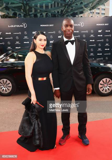Laureus Academy member Michael Johnson and guest attendthe 2017 Laureus World Sports Awards at th e Salle des EtoilesSporting Monte Carlo on February...