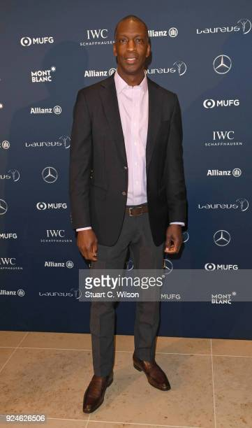 Laureus Academy Member Michael Johnson attends the Laureus Academy Welcome Reception prior to the 2018 Laureus World Sports Awards at the Yacht Club...
