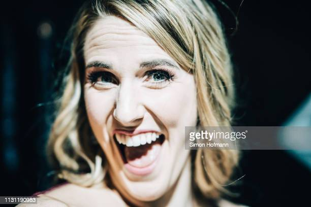 Laureus Academy Member Missy Franklin poses backstage during the 2019 Laureus World Sports Awards at the Salle des Etoiles Sporting MonteCarlo on...