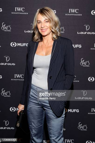 Laureus Academy Member Nadia Comaneci attend She's Mercedes prior to the 2020 Laureus World Sports Awards on February 16 2020 in Berlin Germany