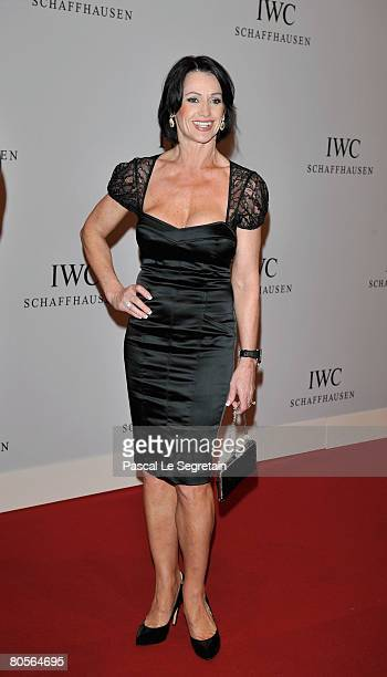 Laureus Academy member Nadja Comaneci attends 'The Crossing' gala event hosted by IWC Schaffhausen held at the Geneva Palaexpo on April 8 2008 in...