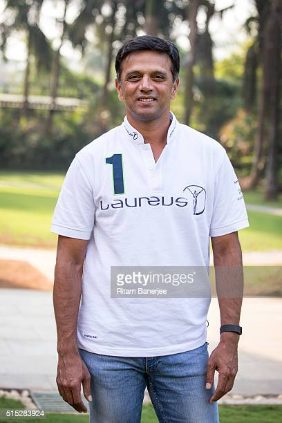 Laureus Academy member Rahul Dravid poses during the Laureus Real Heroes project visit to Magic Bus in India on March 11 2016 in Mumbai India
